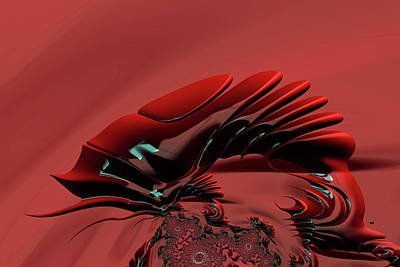 Digital Art - Chameleon Red by Steve Purnell