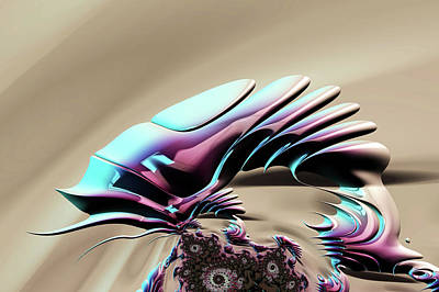 Digital Art - Chameleon by Steve Purnell