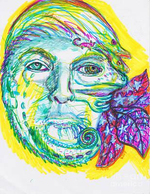 Aperture Drawing - Chameleon Trump 2 by Susan Brown    Slizys art signature name