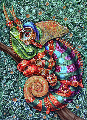 Painting - Chameleon by Victor Molev