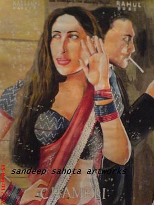 Robert Deniro Wall Art - Painting - Chameli by San Art Studio