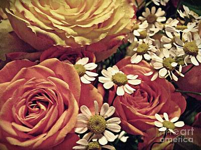 Photograph - Chamomile And Roses 1 by Sarah Loft