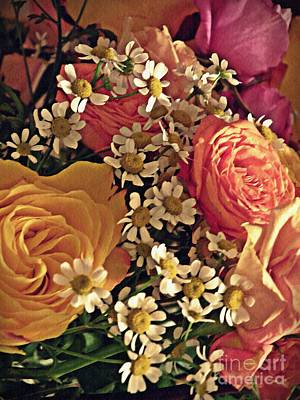 Photograph - Chamomile And Roses 3 by Sarah Loft