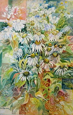 Painting - Chamomile by Therese AbouNader