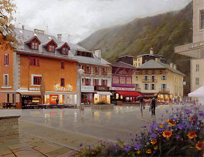 Chamonix Painting - Chamonix by Ramil Gappasov