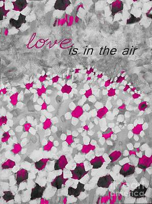 Floral Poster Painting - Champs De Marguerites - Love Is In The Air - Pink-05b by Variance Collections
