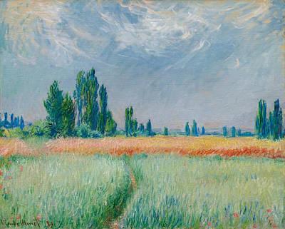 Art Print featuring the painting Champ De Ble by Claude Monet