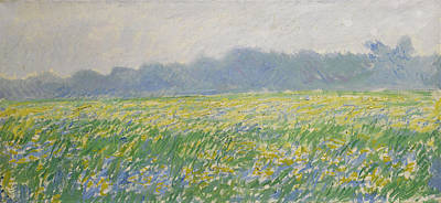 Painting - Champ D'iris A Giverny by Claude Monet