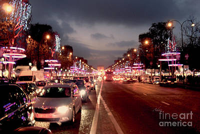 Photograph - Champ Elysees Evening Glitter Paris by Felipe Adan Lerma