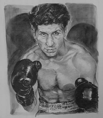 Phillies Drawing - Champ Joey Giardello by Paul Autodore