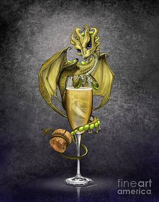 Champagne Dragon Art Print