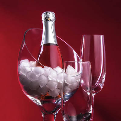 Crystal Photograph - Champagne For Two by Tom Mc Nemar