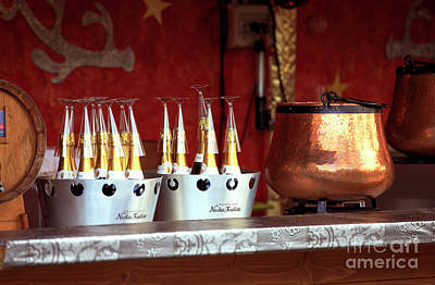 Champagne Glasses Photograph - Champagne In Paris by John Rizzuto