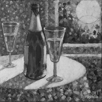 Champagne Moon Rising Original by Jim Rehlin