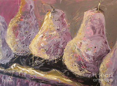 Painting - Champagne Pears by Susan A Becker