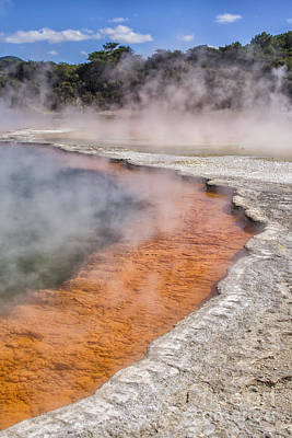 Photograph - Champagne Pool At Rotorua In New Zealand by Patricia Hofmeester