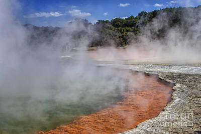 Photograph - Champagne Pool In Rotorua, New Zealand by Patricia Hofmeester