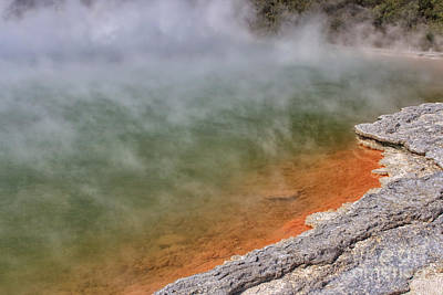 Photograph - Champagne Pool, New Zealand by Patricia Hofmeester