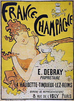 Photograph - Champagne Poster, 1891 by Granger