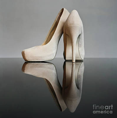 Stillettos Photograph - Champagne Stiletto Shoes by Terri Waters