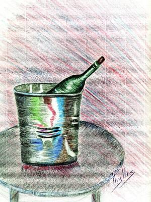 Drawing - Champagne Study In Pencil by Phyllis Kaltenbach