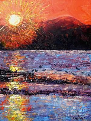 Champagne Sunset.  Art Print