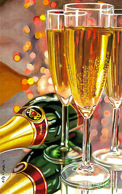 Champagne Wishes Art Print