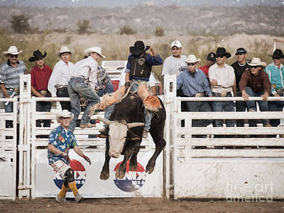 Art Print featuring the photograph Champion Bull Rider by Marianne Jensen