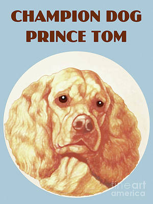 Painting - Champion Dog Prince Tom by Marian Cates