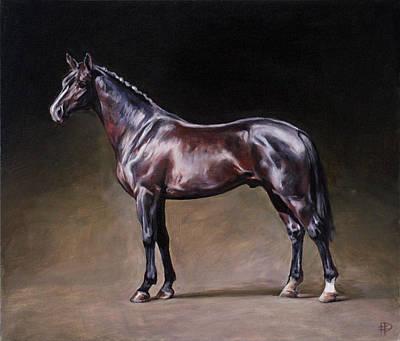 Painting - Champion. Dutch Warmblood Stallion by Jana Fox- Oleg Dyck