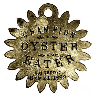 Photograph - Champion Oyster Eater - To License For Professional Use Visit Granger.com by Granger
