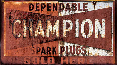 Small Town Life Photograph - Champion Spark Plugs by Paul Freidlund