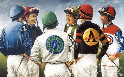 Horse Racing Painting - Champions by Thomas Allen Pauly