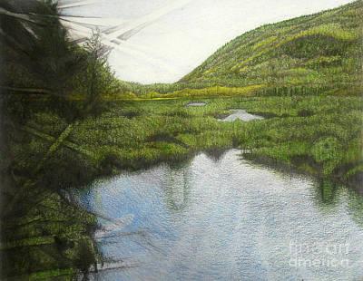 Drawing - Champlain Mountain by Ceilon Aspensen