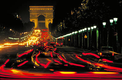 Champs Elysee In Paris Art Print