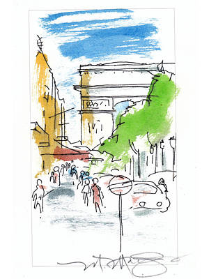 Champs Elysee Paris Art Print