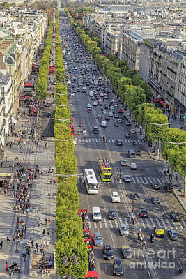 Photograph - Champs Elysees Paris by Patricia Hofmeester