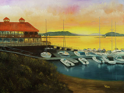 Painting - Champs Sunset by Chris Fraser
