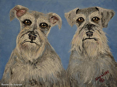 Chance And Lacy Art Print by Barney Napolske