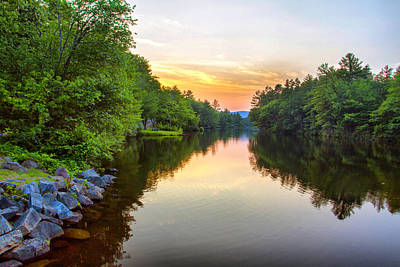 Photograph - Chance Pond Brook Golden Hour  by Betty  Pauwels