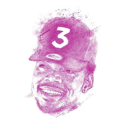 Chadlonius Digital Art - Chance The Rapper by Chad Lonius