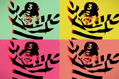 Mixed Media - Chance The Rapper Pop Art by Dan Sproul