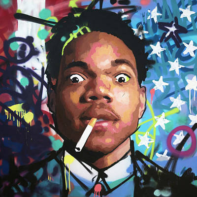 Jay Z Wall Art - Painting - Chance The Rapper by Richard Day