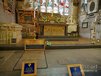 Photograph - Chancel And Burial Place Of William Shakespeare In Holy Trinity Church by Louise Heusinkveld