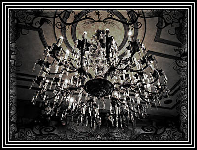 Haunted Photograph - Chandelabre by Sean Dorazio
