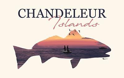 Digital Art - Chandeleur Red by Kevin Putman