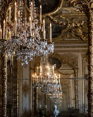 Sconce Photograph - Chandelier At Versailles by Georgia Fowler