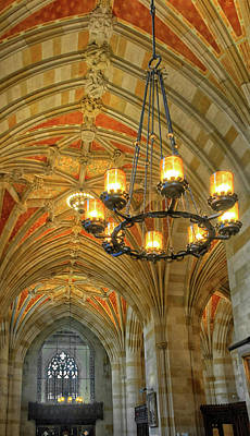 Photograph - Chandelier At Yale University by Dave Mills