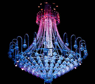 Photograph - Chandelier  Is Changing Colour by Miroslava Jurcik