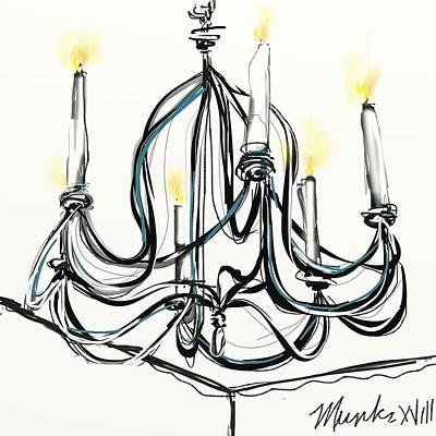 Mixed Media - Chandelier by John Stillmunks